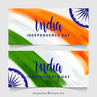 Beautiful indian independence day banners