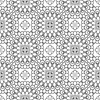 Beautiful indian traditional seamless pattern black and white
