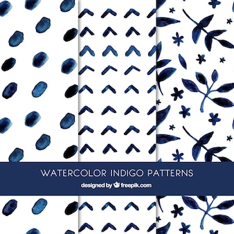 Beautiful indigo patterns