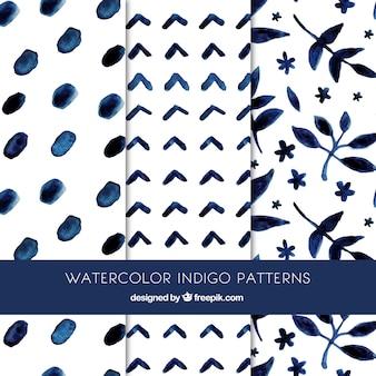 Beautiful indigo patterns