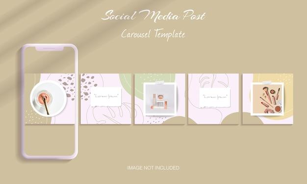 Beautiful instagram carousel post template bundle