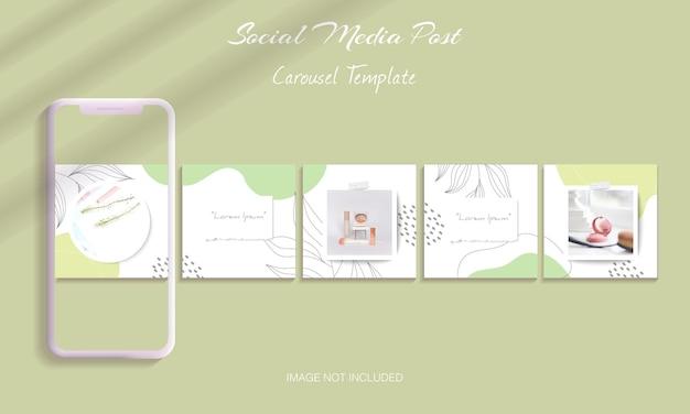 Beautiful instagram carousel post templates set bundle
