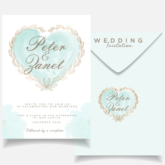 Beautiful invitation event wedding card template