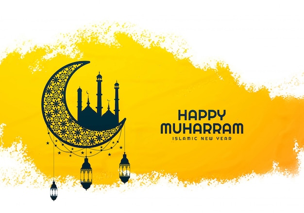 Beautiful islamic happy muharram background
