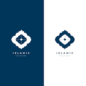 Beautiful islamic logo in two colors
