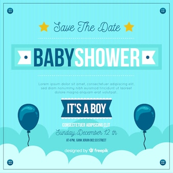 Beautiful its a boy baby shower template