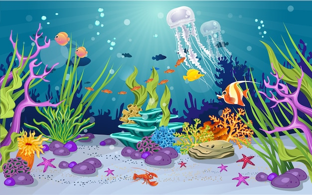 Beautiful jellyfish in the ocean