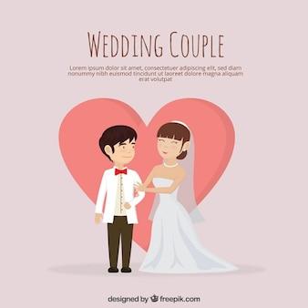 Красивая просто супружеская пара в любви