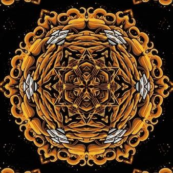 美しい万華鏡の花。デザインの明るいイラスト