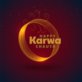 Beautiful karwa chauth festival card decorative