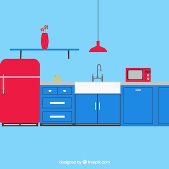 Beautiful kitchen vector pack