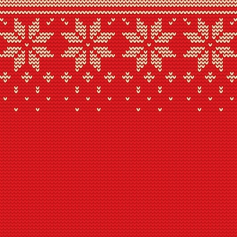 Beautiful knitted christmas background