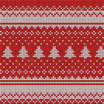 Beautiful knitted christmas pattern