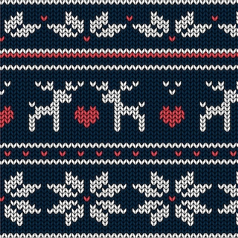 Beautiful knitted christmas pattern