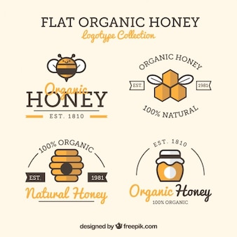 Beautiful labels for honey