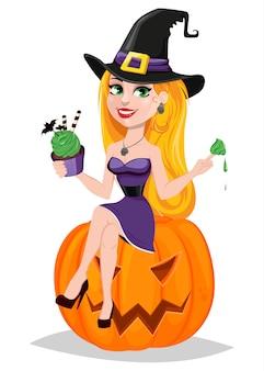 Beautiful lady witch