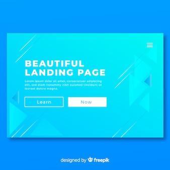 Beautiful landing page background