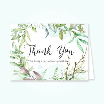 Beautiful leaves card with thank you message