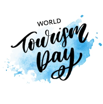 Beautiful lettering for world tourism day.