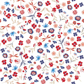 Beautiful liberty Seamless floral pattern