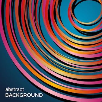 Красивые светлые круги на синем фоне. абстрактные круги света вспышки. векторный фон технологии.