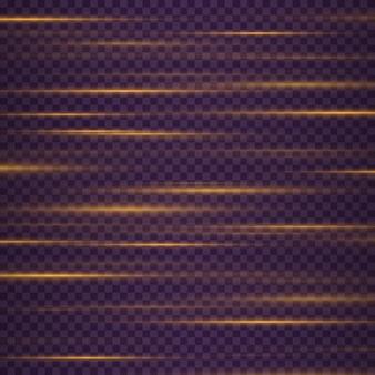 아름다운 빛 플레어 레이저 광선 수평 광선 아름다운 빛 플레어