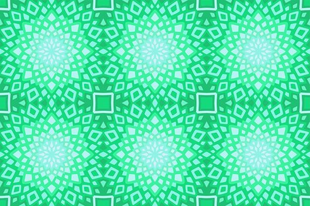 抽象的なシームレスな幾何学的なタイルパターンと美しい薄緑色のウェブ