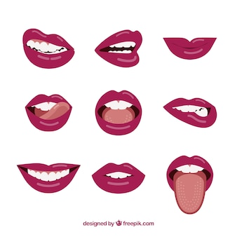 Beautiful lips set