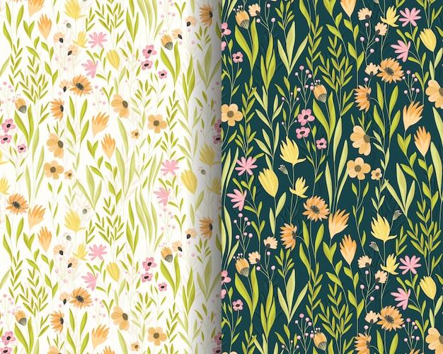Beautiful little flowers garden pattern