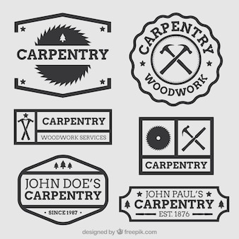 Beautiful logos for carpentry