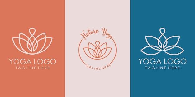 美しい蓮の花のロゴのデザインテンプレート