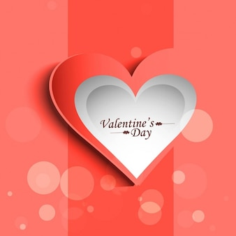 Beautiful love background in coral