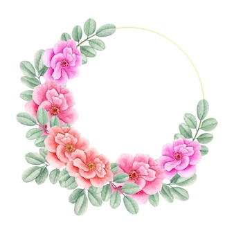 Beautiful lovely floral frame