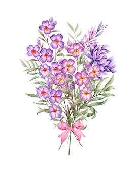 特別な日のための美しい素敵な花と葉の花束