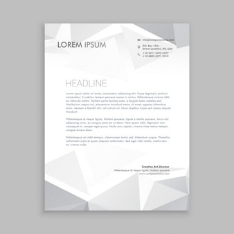 Beautiful low poly letterhead design