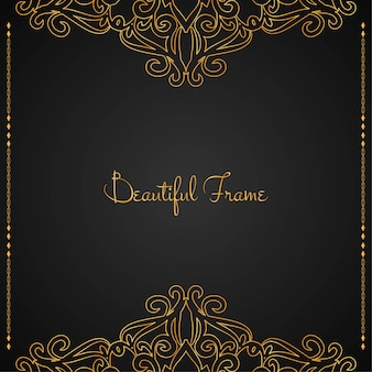 Beautiful luxury golden frame background