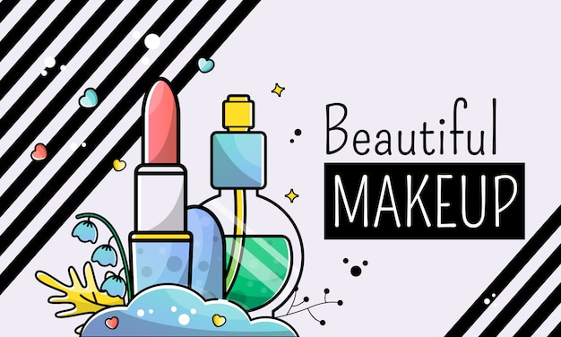 Beautiful make-up. banner background