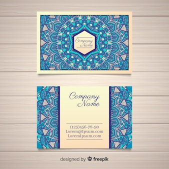 Beautiful mandala business card concept