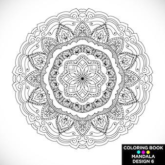 Beautiful mandala for coloring book