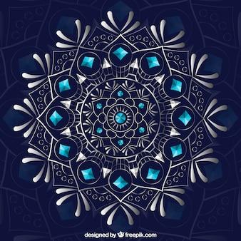 Beautiful mandala on dark background