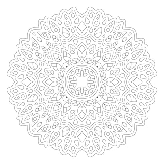 Красивая иллюстрация мандалы для раскраски