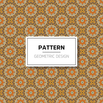 Beautiful mandala seamless pattern background design