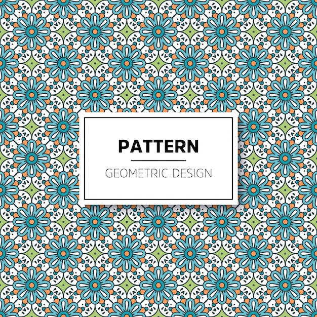 아름 다운 만다라 원활한 패턴 배경 디자인