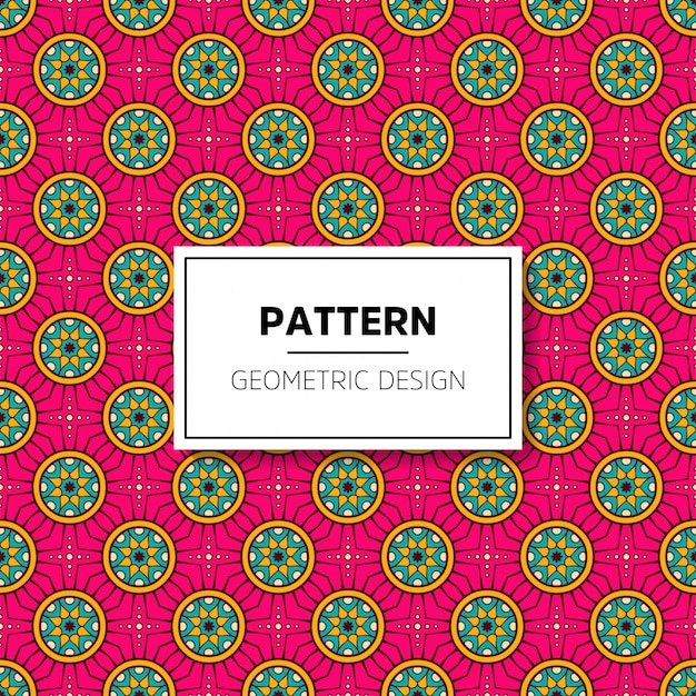 Beautiful mandala seamless pattern background design