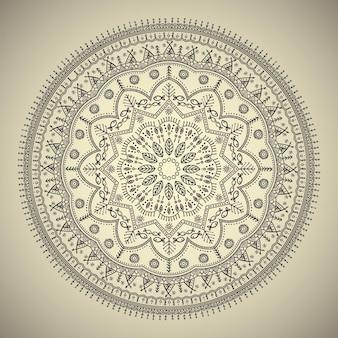ヴィンテージの花柄の美しい曼荼羅