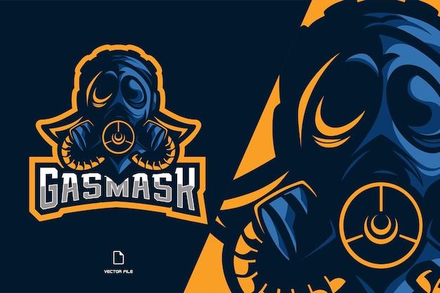 Красивая маска талисман логотип иллюстрации