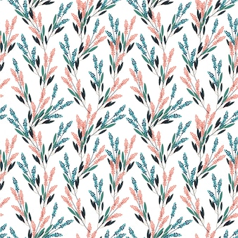 Beautiful meadow flowers seamless pattern in small scale modern style design for fashion, fabric, prints, wallpaper, and all prints