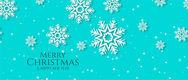 Beautiful merry christmas banner design