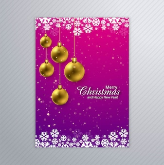 Beautiful merry christmas card poster