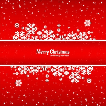 Красивая веселая рождественская открытка со снежинками фон